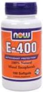 NOW Foods Vitamin E 400 I.U., 100 Softgels