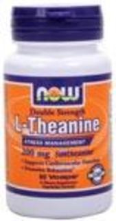 NOW Foods L-Theanine 200 mg. per capsule, 60 Vegi Capsules