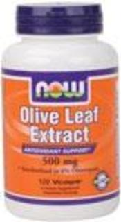 NOW Foods Olive Leaf Extract 500 mg., 120 Vegi Capsules