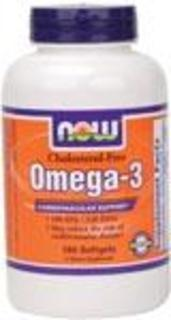 NOW Foods Omega-3 1000 mg. per gel Cholesterol Free, 180 Softgels