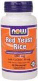NOW Foods Red Yeast Rice with CoQ10, 60 Vegi Capsules