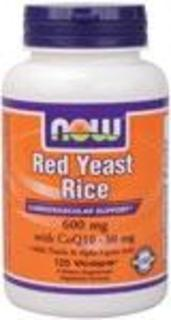 NOW Foods Red Yeast Rice with CoQ10, 120 Vegi Capsules