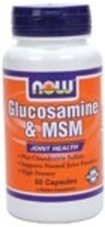 NOW Foods Glucosamine & MSM by NOW Foods, 60 Vegi Capsules