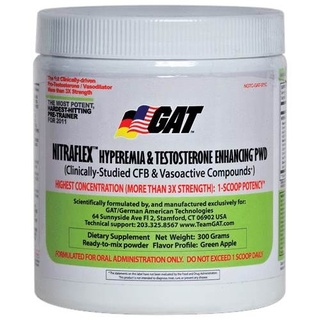 GAT Nitraflex Powder, 300 Grams