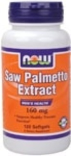 NOW Foods Saw Palmetto Double Strength 160 mg. per gel, 120 Softgels