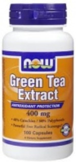 NOW Foods Green Tea Extract 400 mg. per capsule, 100 Capsules