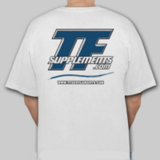 TFSupplements TFSupplements T-Shirt (White), Medium Flavor
