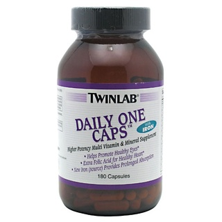 Twinlab DAILY ONE CAPS WITH IRON, 180 Capsules