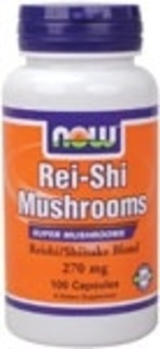 NOW Foods Rei-Shi Mushrooms 270 mg. per capsule, 100 Capsules