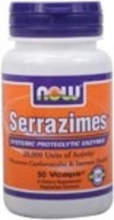 NOW Foods Serrazimes 20,000 Units, 90 Vegi Capsules