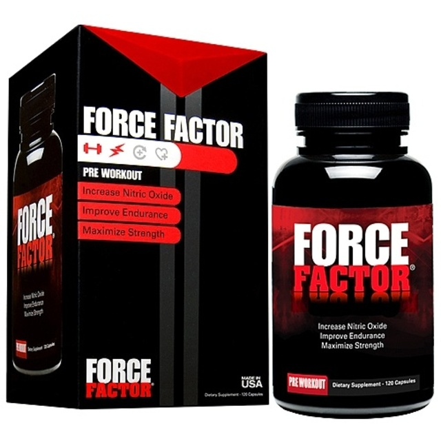 Force Factor Pre Workout Nitric Oxide Booster By Force Factor