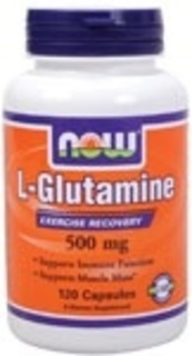 NOW Foods L-Glutamine 500 mg. per capsule by NOW Foods, 120 Capsules