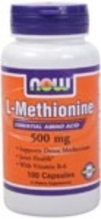 NOW Foods L-Methionine 500 mg. per capsule, 100 Capsules