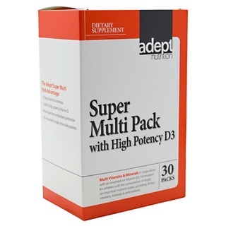Adept Nutrition Super Multi Pack with High Potency D3, 30 Packets