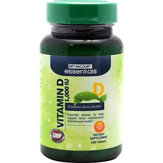 Betancourt Essentials Vitamin D 1,000 IU, 100 Tablets
