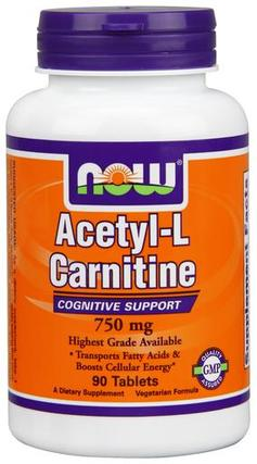 NOW Foods Acetyl-L-Carnitine 750 mg. per tablet by NOW Foods