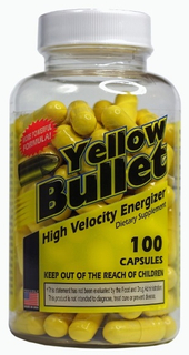 Hard Rock Supplements Yellow Bullet, 100 Capsules