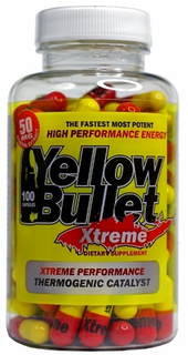 Hard Rock Supplements Yellow Bullet Xtreme, 100 Capsules