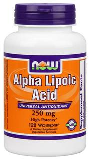 NOW Foods Alpha Lipoic Acid 250 mg. per capsule, 120 Vegi Capsules