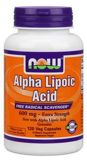 NOW Foods Alpha Lipoic Acid 600 mg. per capsule, 120 Vegi Capsules