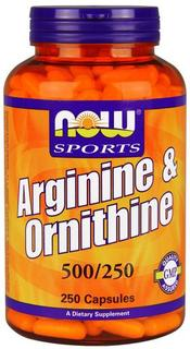 NOW Foods Arginine & Ornithine, 250 Capsules