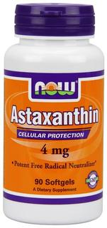 NOW Foods Astaxanthin 4 mg. per gel, 90 Softgels