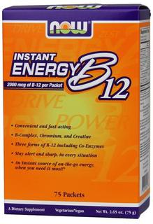 NOW Foods B-12 Instant Energy, 75 Packets