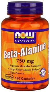 NOW Foods Beta-Alanine 750 mg. per capsule, 120 Capsules