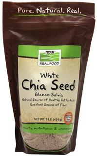 NOW Foods Blanco Salvia White Chia Seeds, 1 Pound