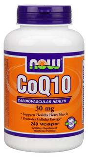 NOW Foods CoQ10 30 mg. Vegetarian, 240 Vegi Capsules