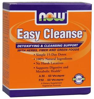 NOW Foods Easy Cleanse - A.M. 60 Vcaps, P.M. 60 Vcaps, 120 Vegi Capsules