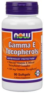 NOW Foods Gamma E Tocopherols, 90 Softgels