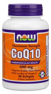 NOW Foods CoQ10 600 mg, 60 Softgels