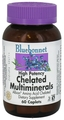 Bluebonnet Nutrition Chelated Multiminerals High Potency, 60 Caplets