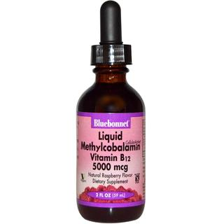 Bluebonnet Nutrition Liquid CellularActive® Methylcobalamin Vitamin B12 5000 mcg, 2 Fluid Ounces