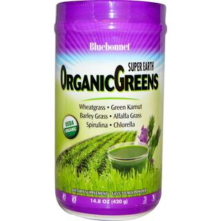Bluebonnet Nutrition Super Earth® OrganicGreens Powder, 14.8 Ounces