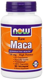 NOW Foods Maca 750 mg Raw, 90 Vegi Capsules