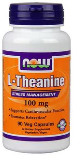 NOW Foods L-Theanine 100 mg, 90 Vegi Capsules