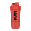 MAN Sports MAN 3-in-1 BPA Free Shaker, Red Color