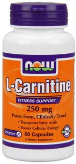NOW Foods L-Carnitine 250 mg Tartrate-L-Carnipure, 60 Capsules