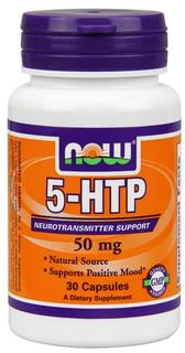 NOW Foods 5-HTP 50 mg., 30 Capsules