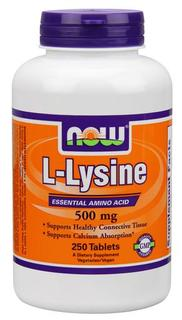 NOW Foods L-Lysine 500 mg Tablets, 250 Tablets
