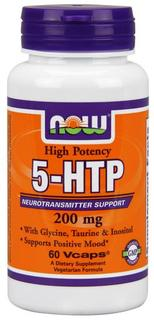 NOW Foods 5-HTP 200 mg., 60 Vegi Capsules