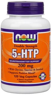 NOW Foods Double Strength 5-HTP 200 mg, 120 Vegi Capsules