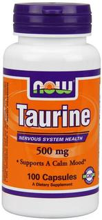 NOW Foods Taurine 500 mg., 100 Capsules