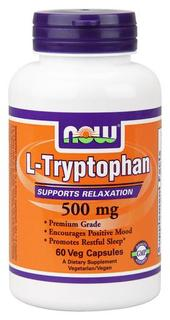 NOW Foods L-Tryptophan 500 mg., 60 Vegi Capsules