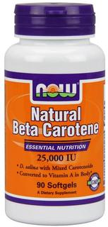 NOW Foods Beta Carotene (Natural), 90 Softgels