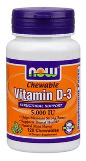 NOW Foods Vitamin D-3 5,000 IU, 120 Chewables