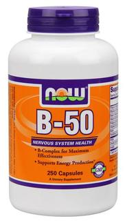 NOW Foods Vitamin B-50 mg., 250 Capsules