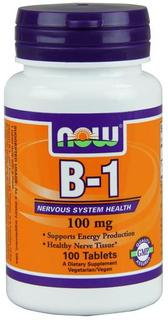 NOW Foods Vitamin B-1 (Thiamine) 100 mg., 100 Tablets